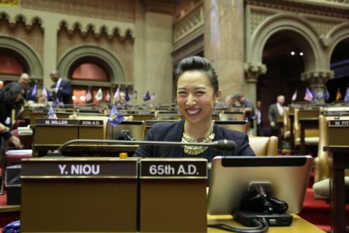 牛毓琳是纽约州议会唯一亚裔女性众议员。(美国《世界日报》/洪群超 摄)