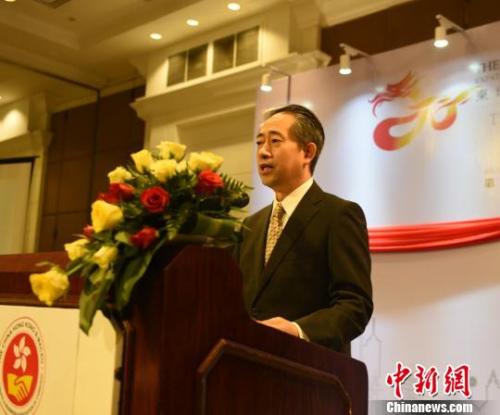 中国驻柬大使熊波在致辞。 黄耀辉 摄