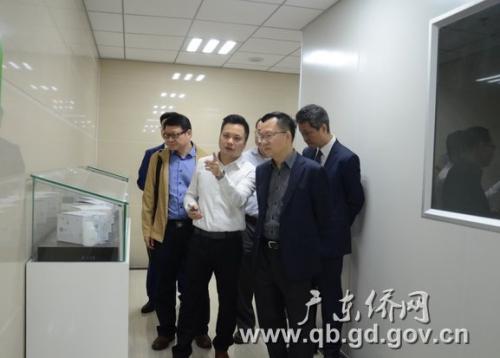 调研组参观中山康源基因技术科技有限公司