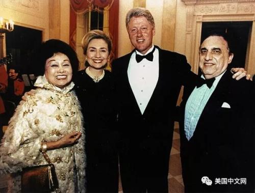陈香梅与克林顿夫妇
