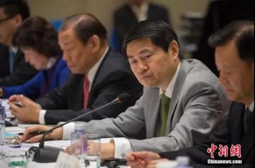 资料图:中国与全球化智库(CCG)创始人王辉耀。中新社记者 骆云飞 摄