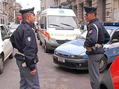 资料图 意大利税警赴普拉托华人区检查