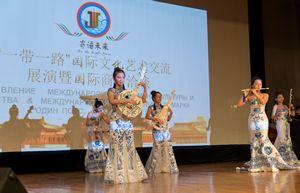 精彩演出(图片来源:中国驻俄罗斯大使馆网站)