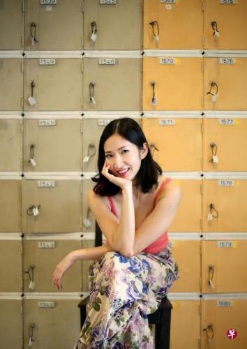 陈思敏是相当多产的实力派英语剧演员,也擅编剧。(图片来源:《联合早报》龙国雄摄)
