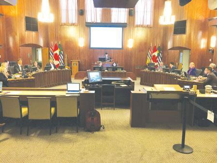 资料图:温哥华市议会。(加拿大《明报》 陈志强摄)