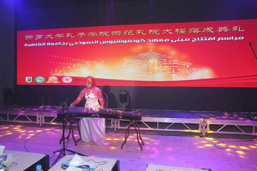 文艺演出(图片来源:中国驻埃及大使馆网站)