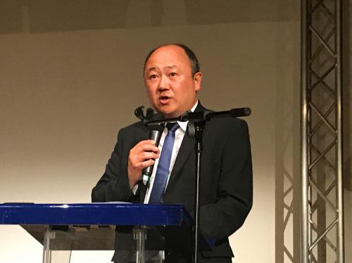 法国本土诞生首位华裔国会议员陈文雄。(图片来源:欧洲时报记者张新 摄)