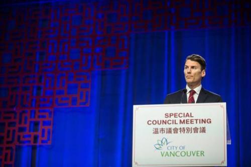 温哥华市市长罗品信就排华史向华人社区正式道歉。