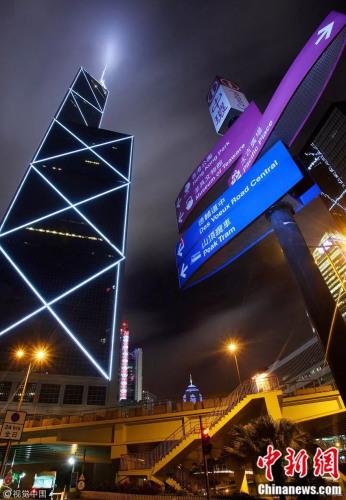 香港中银大厦。作者:笑云/视觉中国 来源:视觉中国