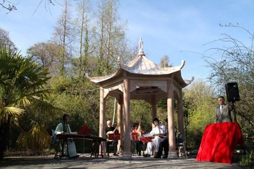 爱丁堡皇家植物园举行中国亭