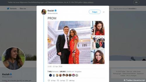 卡西雅·达姆(Keziah Daum)穿上旗袍挺漂亮。(德国之声中文网援引卡西雅·达姆Twitter)