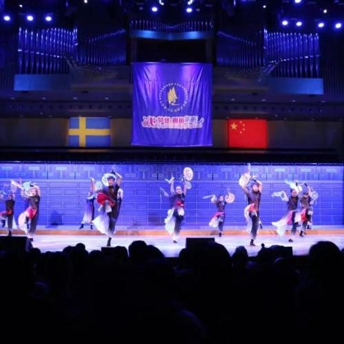 演出现场。(图片来源:中国驻瑞典大使馆微信公众号)