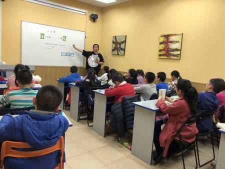 施瑾老师在上示范课。