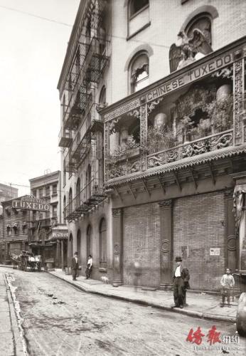 探花楼酒楼,1901。(美国《侨报》资料图)