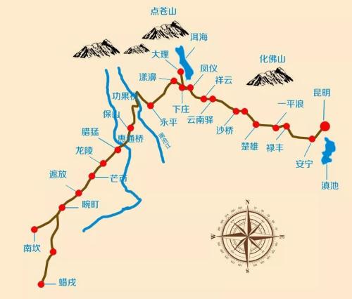 滇缅公路示意图。(图片来自新华网)