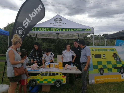 St John募捐活动现场。(图片由受访者提供)