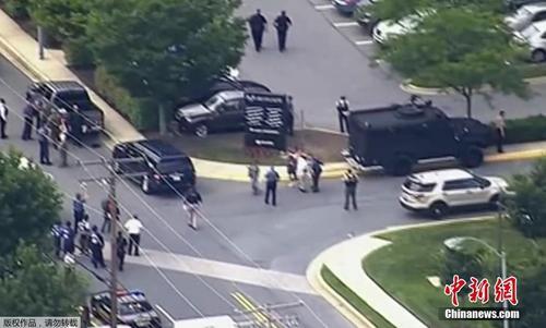 美国马里兰州新闻编辑室发生枪击案