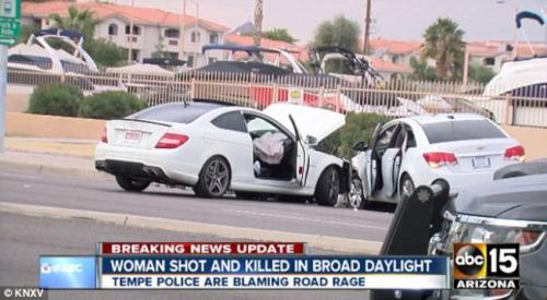 戴维斯开枪打死江玥的现场。(美国《世界日报》)