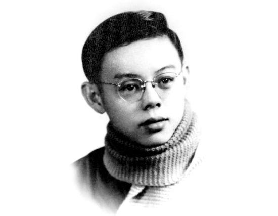 一九六零年,在北京林学院就读的邱学清。