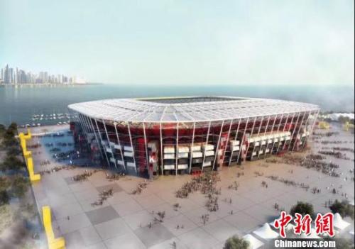 卡塔尔世界杯一比赛场馆,用中国集装箱拼装而成