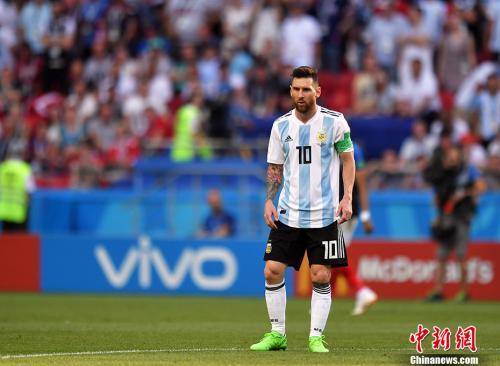 法国队4:3淘汰阿根廷挺进8强,阿根廷遭到淘汰。 <a target='_blank' href='http://www.chinanews.com/'>中新社</a>记者 田博川 摄