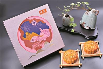 祖庙秋色上月饼封面
