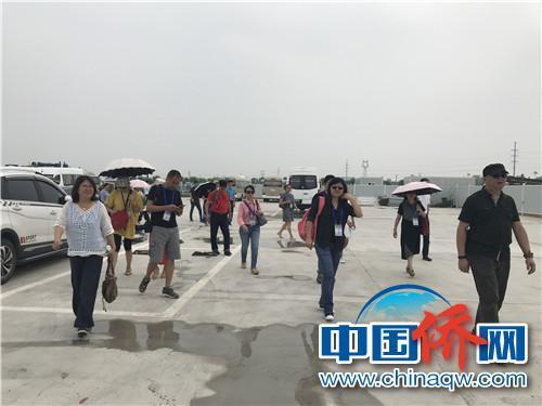海外华文媒体代表进入雄安新区。 周欣媛 摄