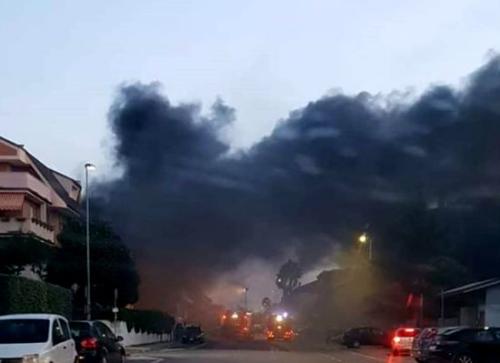 火灾现场。(图片来源:意大利欧联网)