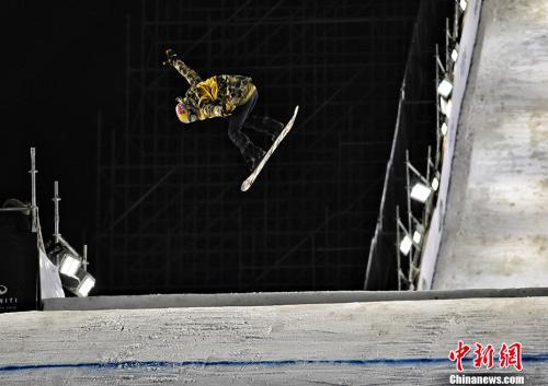 资料图:单板滑雪大跳台。<a target='_blank' href='http://www.chinanews.com/' >中新网</a>记者 李霈韵 摄