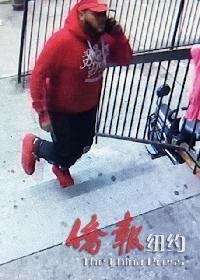 纽约八大道枪击华裔兄妹的西青嫌犯曝光,警吁线索。 (警方提供)