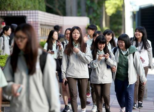 台湾学生。台湾《联合报》记者余承翰摄影