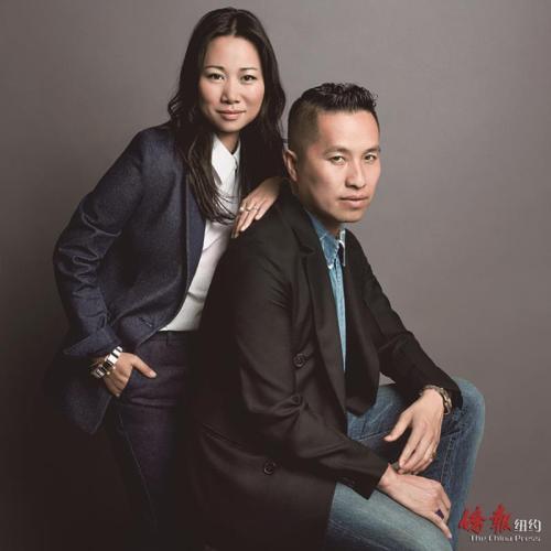 周绚文与华裔设计师Phillip Lim。(图片均为周绚文提供)