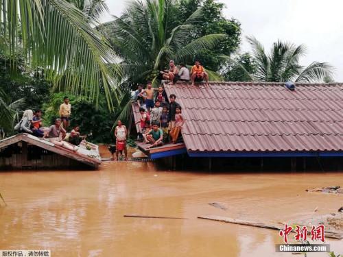 当地时间2018年7月24日,老挝阿速坡省(Attapeu),该省一座水电站大坝发生坍塌,造成多个村庄被淹,至少5人死亡,另有数百人失踪。