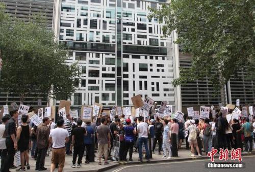 示威抗议受关注 英国移民局将与伦敦华人