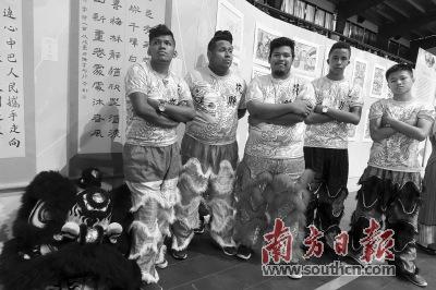 巴拿马青少年热衷中国醒狮文化。