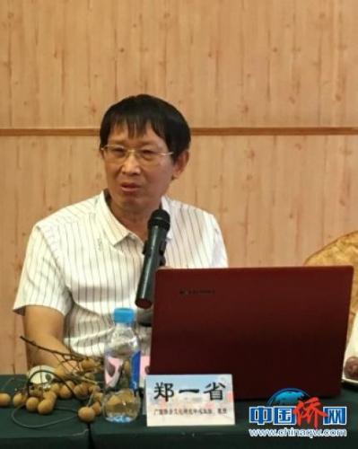 图为广西侨乡文化研究中心主任郑一省发言 段晓红 摄