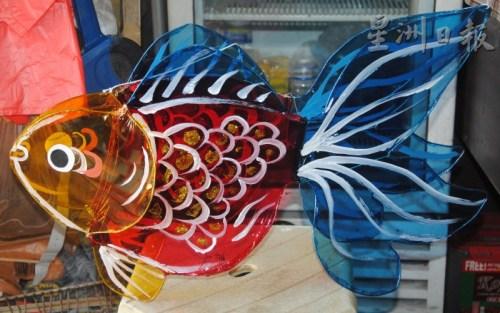 记忆中的大鱼传统灯笼。(马来西亚《星洲日报》)