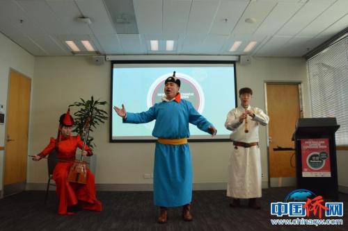 巡演团学生演员献艺于惠灵顿蒂帕帕新西兰国家博物馆(Museum of New Zealand Te Papa Tongarewa)举行的新西兰中文周开幕式。