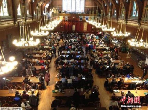 资料图:哈佛大学校园。
