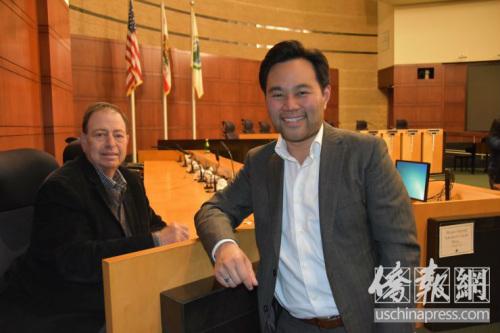尔湾市议员候选人郭振明(Anthony Kuo)。(美国《侨报》/尚颖 摄)