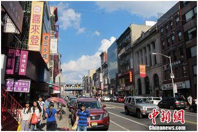 资料图:历尽百年沧桑纽约唐人街。韩胜宝 摄