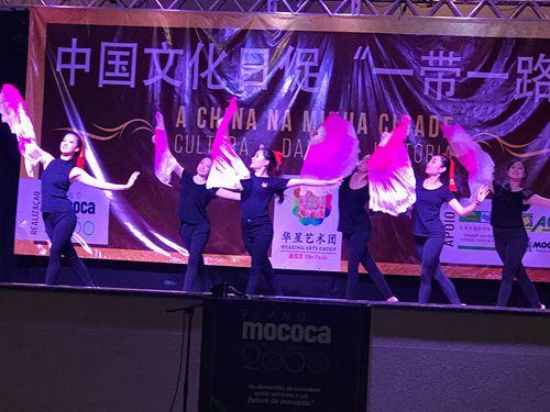 圣保罗华星艺术团表演舞蹈《芳华》。(圣保罗华星艺术团供图)