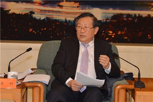 12月10日,中国侨联庆祝改革开放40周年座谈会在北京举行。全国政协副主席、致公党中央主席万钢出席座谈会并讲话。中国侨联供图。