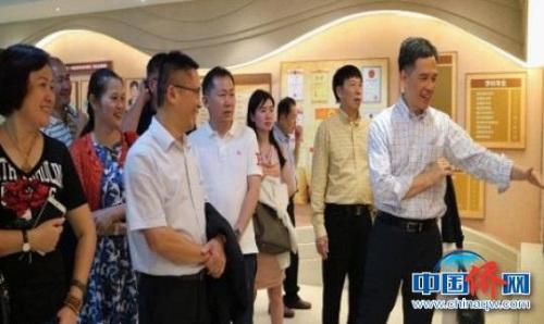 香港海南商会高层代表团到海南大学考察访问。 崔永富 摄