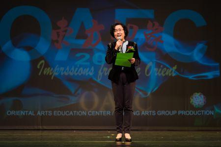 中国驻休斯敦总领馆刘红梅副总领事热情致辞 赞扬东方艺术教育中心以艺术育人 为传承传播中华文化的不懈努力。