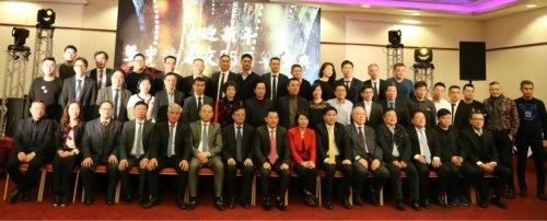 法华工商联合会成员与嘉宾在活动现场。