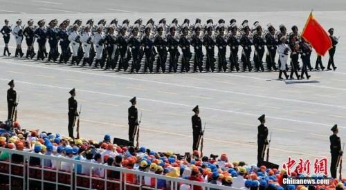 资料图:2015年9月3日上午,抗战胜利70周年阅兵在北京举行。<a target='_blank' href='http://www.chinanews.com/'>中新社</a>记者 盛佳鹏 摄