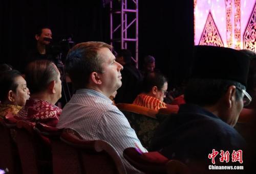 图为观看表演的印尼侨胞与外国朋友。<a target='_blank' href='http://www.chinanews.com/'>中新社</a>记者 周欣嫒 摄