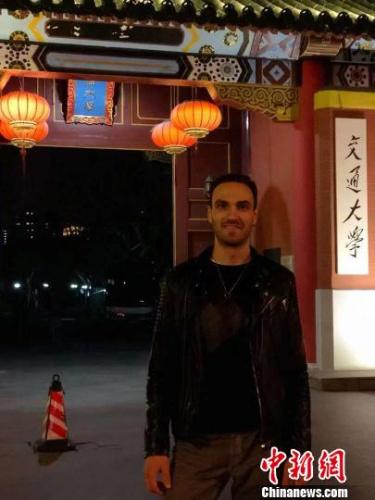 马克在上海交大的学习生活忙碌而充实。 受访者供图