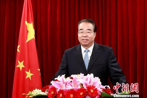 资料图:中国国务院侨务办公室主任许又声。<a target='_blank' href='http://www.chinanews.com/'>中新社</a>记者 盛佳鹏 摄
